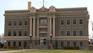 National Register of Historic Places listings in Clay County, Nebraska - Image: Clay County Courthouse (Nebraska) 4