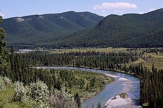 Clearwater River (Alberta) - The Clearwater River of southwestern Alberta