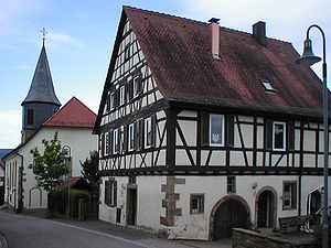 Cleebronn - Parish church and vicarage