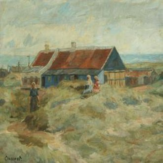 Gad Frederik Clement - G. F. Clement: The Blue House in Skagen