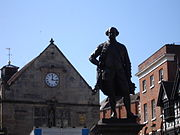 Clive of india statue in shrewsbury
