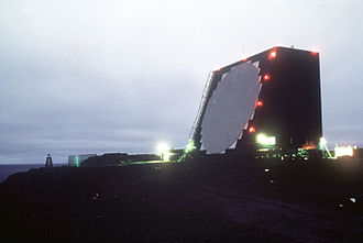 Radar MASINT - Night view of the AN/FPS-108 Cobra Dane RADAR