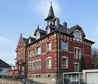 Ketschendorf (Coburg) - Neue-Heimat-Schule (New Home School) in 1902, now the Volksschule Coburg-Ketschendorf (Grundschule) (Coburg-Ketschendorf Public School or Elementary School)