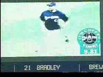 Todd Coffey - Coffey running in at Miller Park with timer.