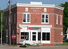 Columbia Hall (Dannebrog, Nebraska) from SE 1.JPG