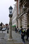 Column and Street Light, Left of Entrance to Colchester Town Hall.JPG