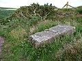 Concrete block by the rugged coast path - geograph.org.uk - 1719466.jpg