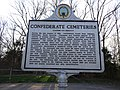 Confederate Cemeteries historical marker at Bristoe Station Battleground; Dumfries, VA; 2014-04-13.jpg
