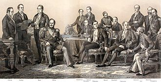 Treaty of Paris (1856) - From Auguste Blanchard's copper-plate engraving after Édouard Dubufe's picture