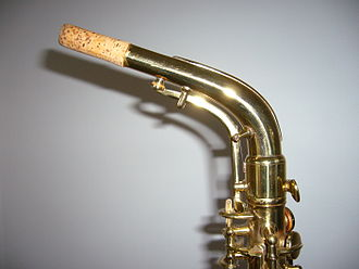 Neck (music) - A straight Saxophone neck.
