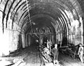 Construction of Great Northern Railroad tunnel beneath downtown Seattle (CURTIS 1546).jpeg