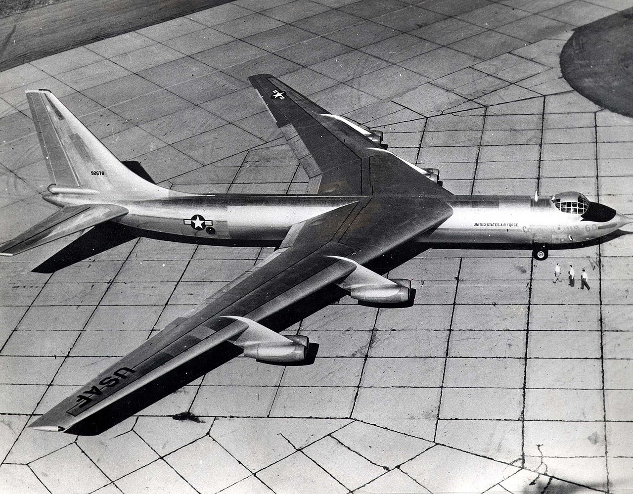 File:Convair YB-60 side top view (SN 49-2676) 061102-F-1234P-002 ...