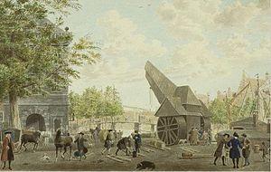 Waag, Haarlem - Image: Cornelis van Noorde Slepershoofd Spaarne 1767
