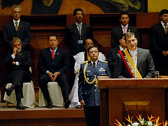 Rafael Correa - Rafael Correa during his inaugural speech as president of Ecuador