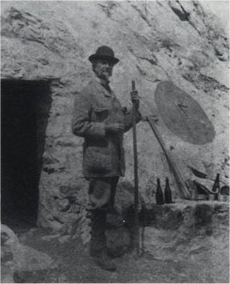 Henry Russell (explorer) - Henry Russell in front of one of his caves on the Vignemale