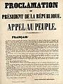Coup d'État du 2 décembre 1851 - Proclamation du président de la République - Appel au peuple.jpg