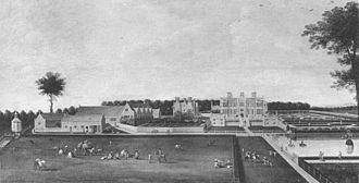 Crewe Hall - Crewe Hall from a painting of c. 1710