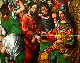 Confrontatie van Antipas met Jezus volgens de Meester van Sienna