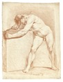 Croquisteckning föreställande naken man, 1760-tal - Skoklosters slott - 99353.tif
