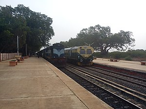 Sivaganga Railway Station   Image: Crossing Trains In Sivagnagai