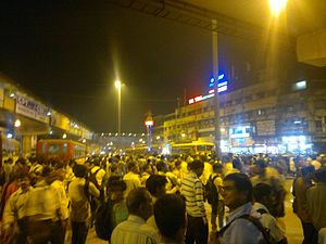 Kalyan - Image: Crowd outside Kalyan Junction