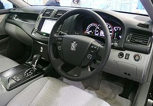 G-Book - Interior of Japan-market Toyota Crown Athlete with G-Book touchscreen capability