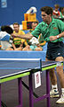 Csaba Bobary, table tennis match at 1992 Paralympics.jpg