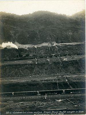 Culebra Cut - Culebra Cut Construction in 1909