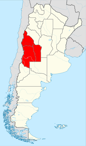 Cuyo (Argentina) - Location of the Cuyo region in Argentina