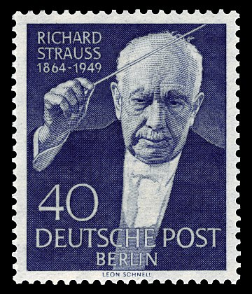 Stamp issued in 1954 DBPB 1954 124 Richard Strauss.jpg