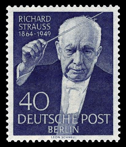 Почтовая марка с портретом Р. Штрауса