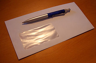 Windowed envelope - Modern envelope with a single window for the recipient address
