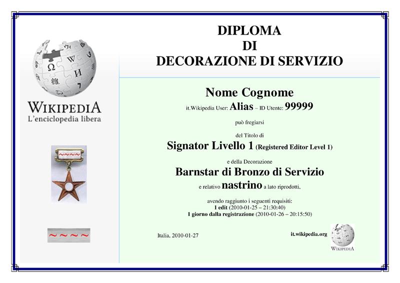 File diploma decorazione servizio wikipedia for Decorazione wikipedia