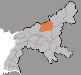 Location of Tŏkch'ŏn