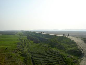 Geography of North Korea - A North Korean agricultural landscape, denuded of trees