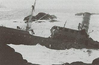 1943 in Norway - Image: DS Sanct Svithun vraket