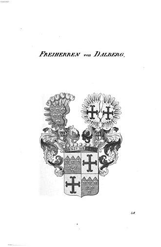 Dalberg - Arms of the Freiherren von Dalberg, mid 19th century