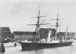 Carl Ryder - The schooner Fylla in Copenhagen harbour