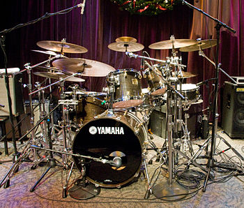 Dave Weckl's drum kit @ Jazz Alley, Seattle, W...