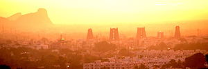 Dawn in Madurai city
