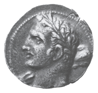 Barcids - A Carthaginian coin possibly depicting Hannibal as Hercules (i.e. Heracles)