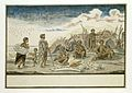 De Strandlopers en hun schuilhutten op het strand.jpeg