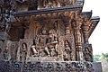 Decorated outer walls Hoysaleswara Temple Halebid (6).jpg