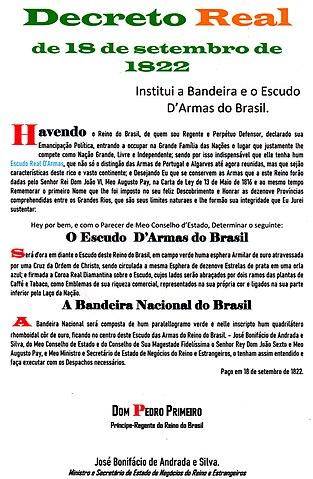 File Decreto Do Escudo E Bandeira Nacional 1822 Jpg Wikimedia Commons