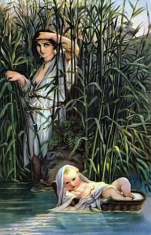 Miriam - Miriam watching over the infant Moses