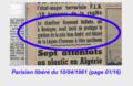 """Delbeke Raymond 1911-1961, (presse) 1961-04-10 """"... chauffeur de taxi...légion d'honneur à titre posthume..."""" (Parisien libéré p. 01-16 extrait (annoté).png"""