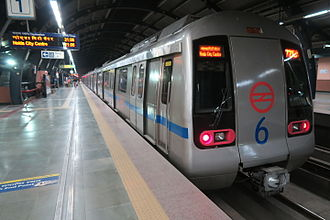 Blue Line (Delhi Metro) - Fleets of Blue line manufactured by Mitsubishi-ROTEM.
