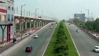 En utsikt over Delhi Faridabad Skyway