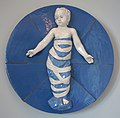 Della Robbia Foundling Plaque, attributed to Clement J. Barnhorn, Rookwood Pottery Company, 1926, glazed terra cotta - Cincinnati Art Museum - DSC03121.JPG