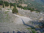 Greek amphitheater at Delphi.